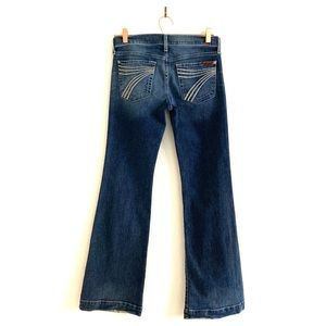 7 Seven For All Mankind Dojo Flare Jeans Dark Wash